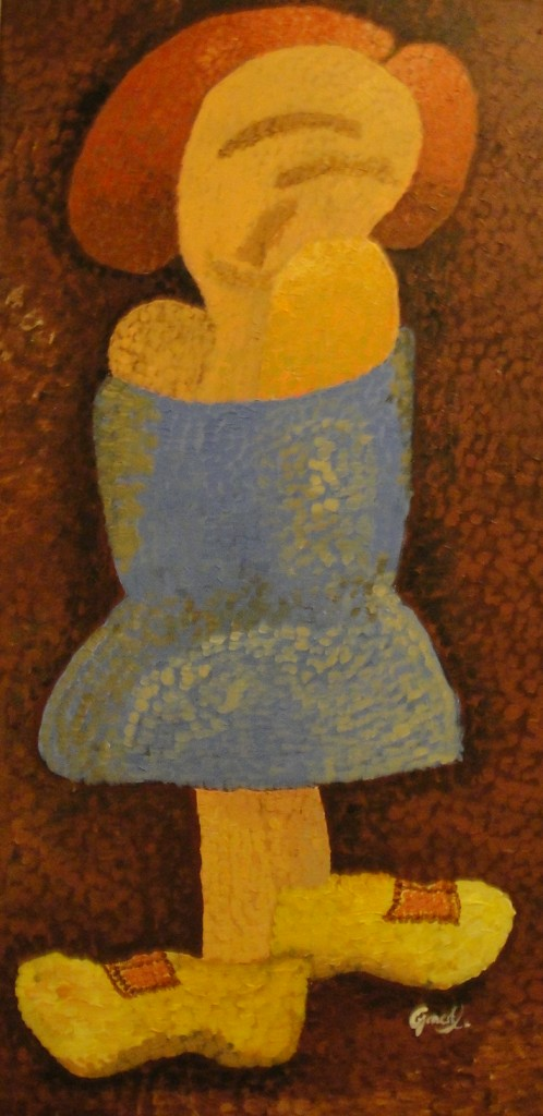 "'Girl with a dream', 16 x 30"", Acrylic on Canvas, 2012 (NFS)"