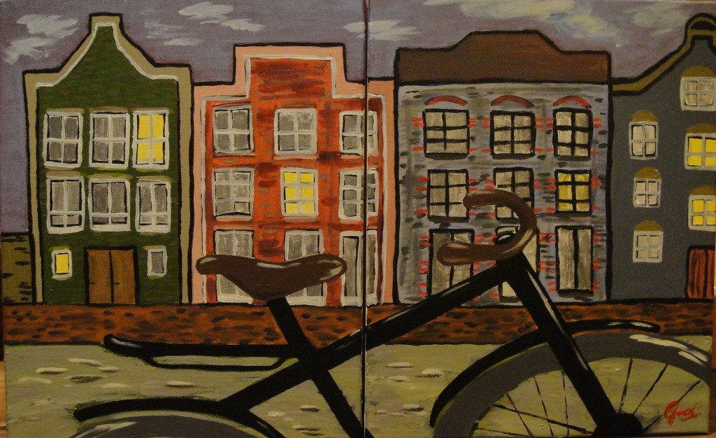 "'Amsterdam', 15 x 20"", Acrylic on Canvas x 2, 2012 (NFS)"