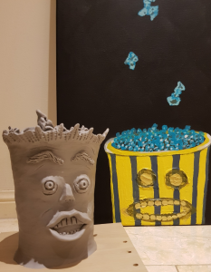 Mr. Popcorn sculpture